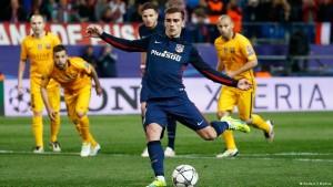 غريزمان كان أخطر من ثلاثي برشلونة وسجل هدفين.