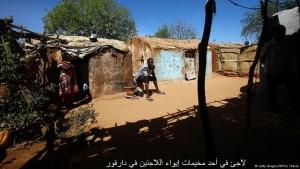 لاجئ في أحد مخيمات إيواء اللاجئين في دارفور